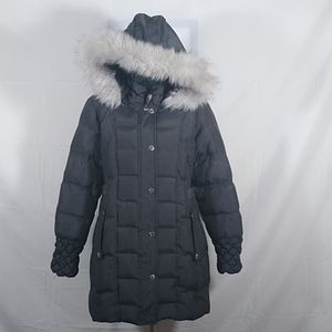 Betsey Johnson Puffer Coat With Faux Fur
